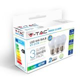 LOT DE 3 AMPOULES LED E27 5,5W V-TAC VT-2176