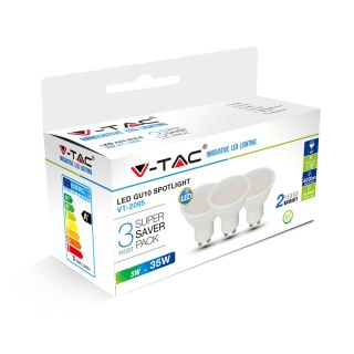 LOT DE 3 SPOTS LED GU10 5W 110° V-TAC VT-2095