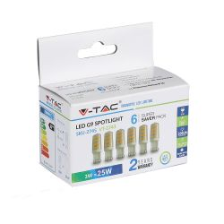 Lot de 6 Ampoules LED G9 V-TAC 3W VT-2243